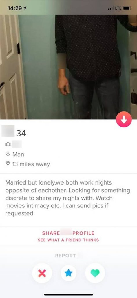 Married, works opposite each other but bored.