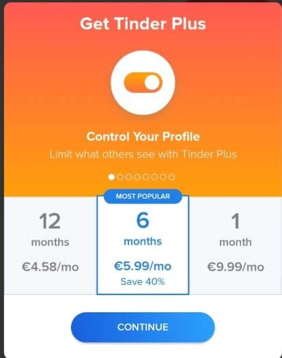 Do not hide your profile using Tinder Plus.