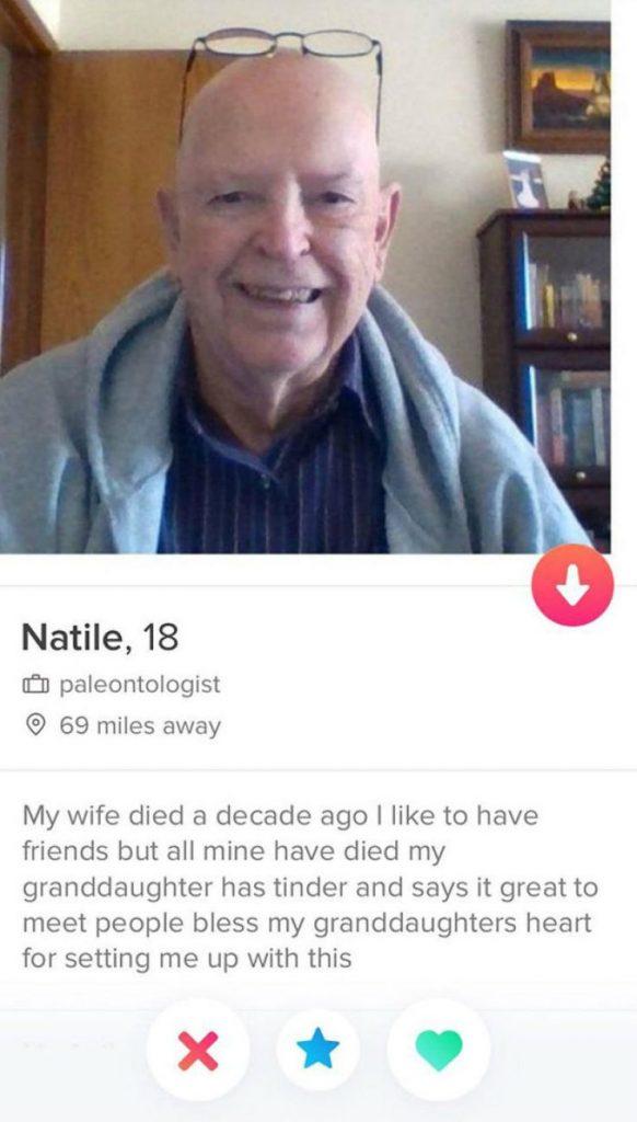 An obvious catfish Tinder profile