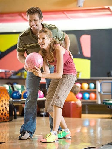Bowling is great for bonding.