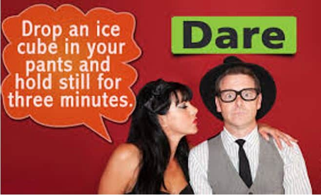 Truth or dare is a good way to make decision making fun on a Tinder Date.
