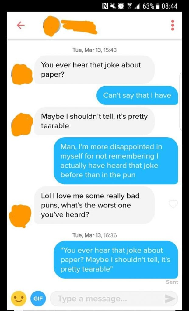 Notice how easy it is to be funny with a girl.