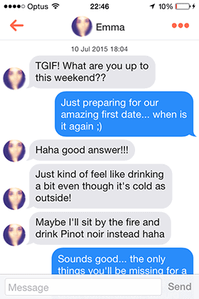 Get her thoughts on dates, drinks, games or tv shows. Anything.