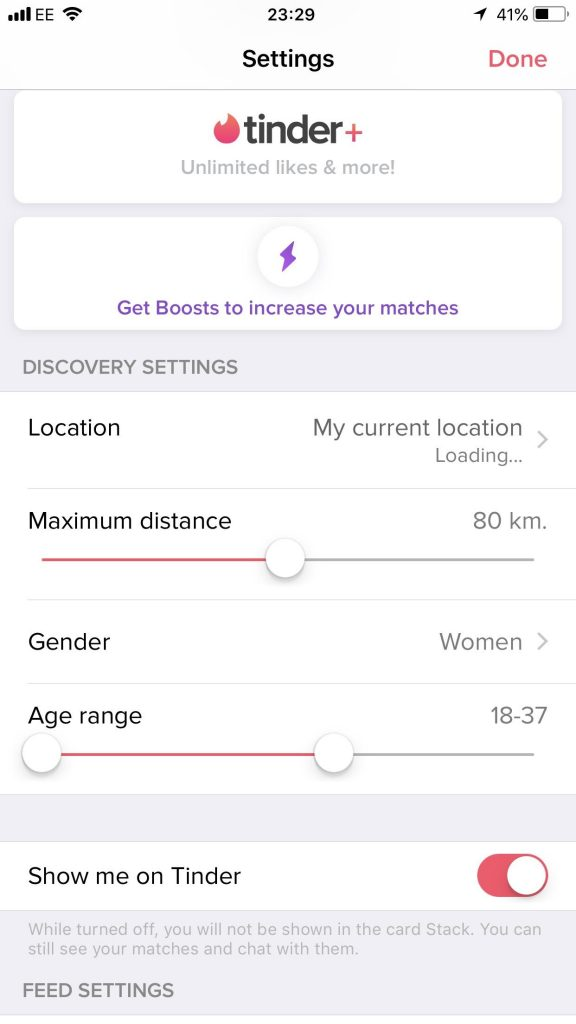 You can hide your distance on Tinder Plus settings.