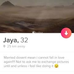 Married but still wants to fall in love with others.