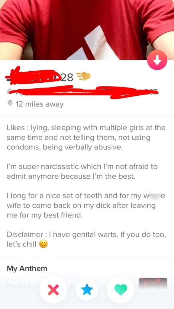Sleeps with numerous girls without protection.