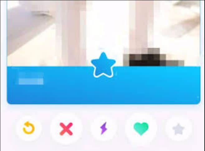 You swipe up on the blue star to send a super like.
