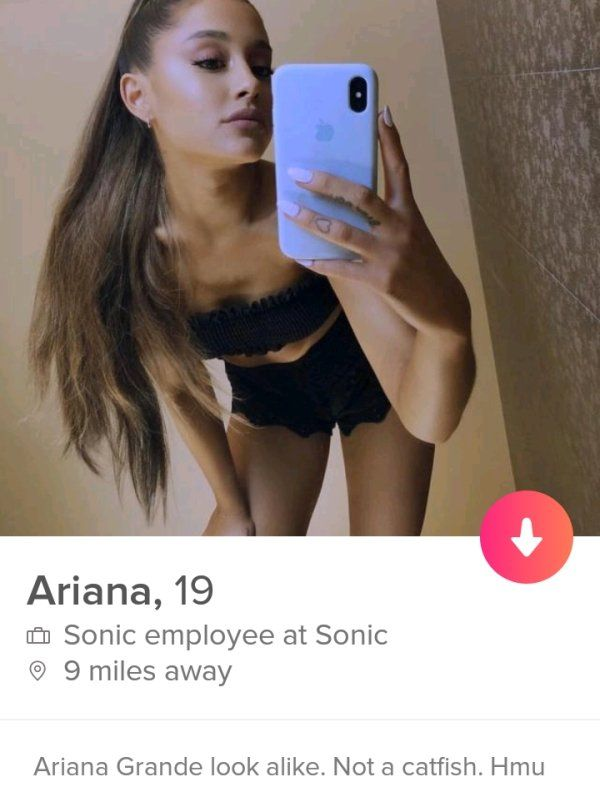 No, it is not Ariana Grande. She may not even look like her in real life.