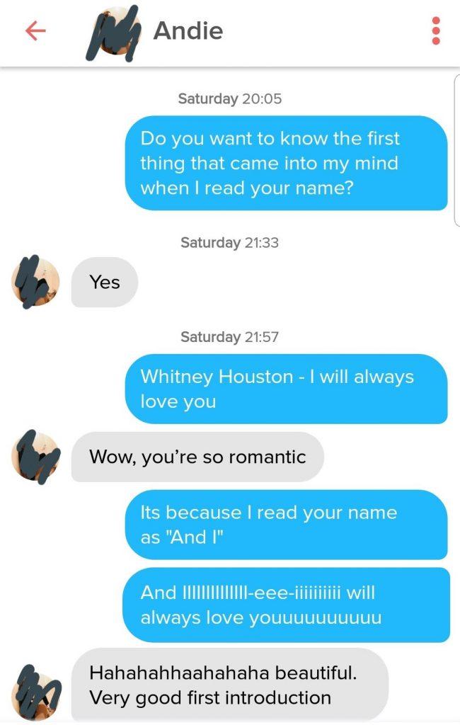 Funny Conversation on Tinder
