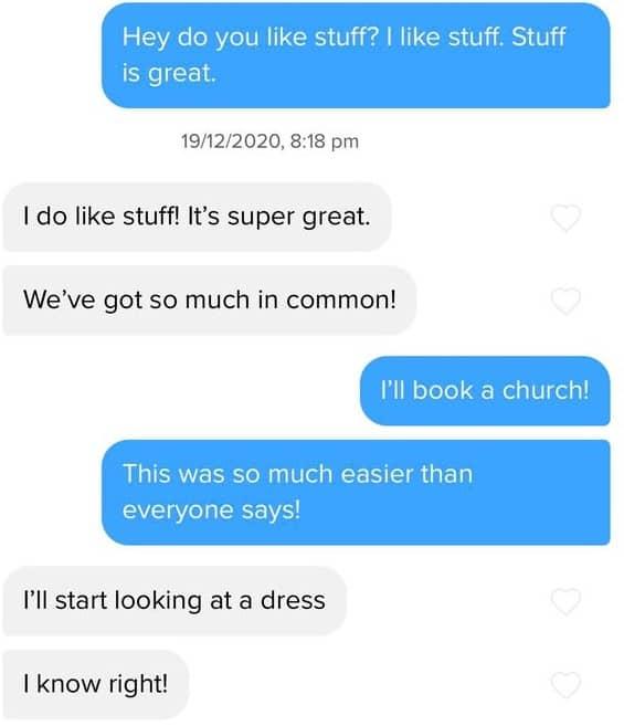 Fun Texting on Tinder