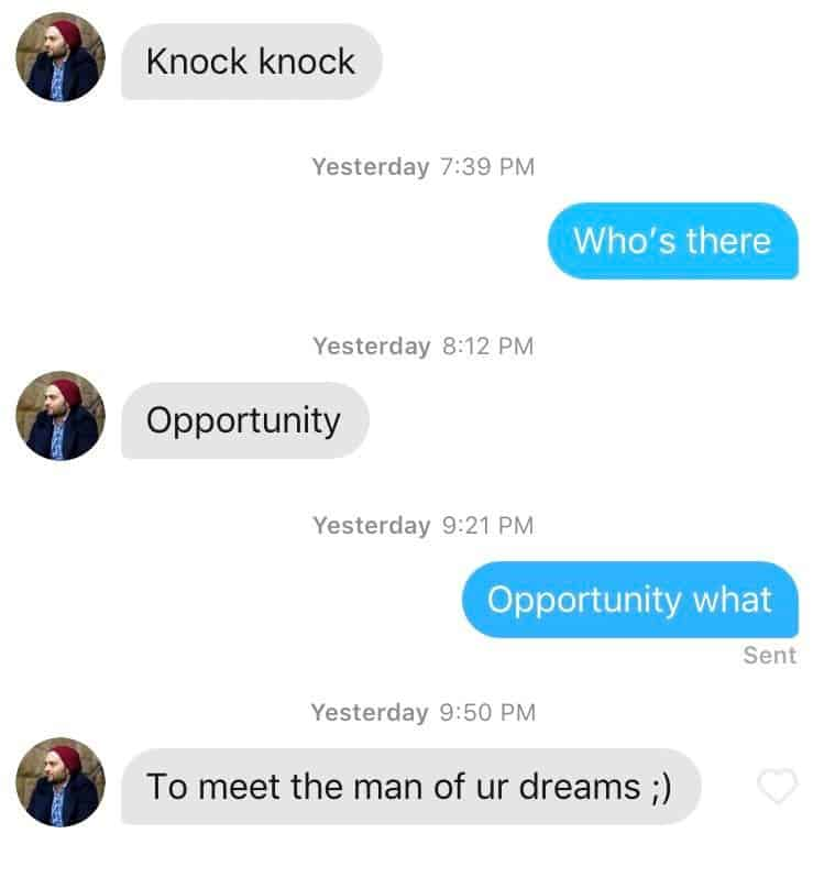 cute text messages on tinder