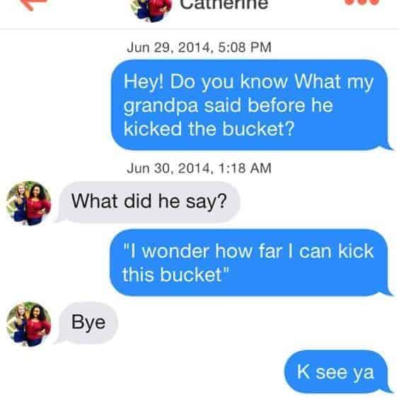 Tinder Don't Joke Example